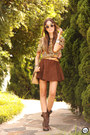 Cream-dafiti-bag-brown-dutmy-skirt-mustard-meemee-top