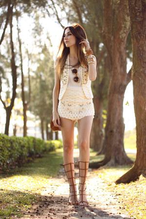 cream MondaBelle vest - cream MondaBelle skirt