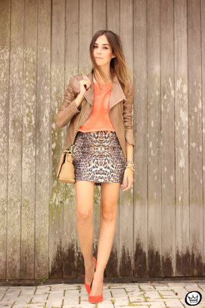 bronze Boda Skins jacket - bronze Displicent skirt