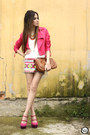 Hot-pink-ville-rose-jacket-yellow-ville-rose-skirt