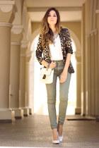 mustard Shoulder blazer - chartreuse Gap pants