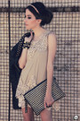 Black-spikes-choies-jacket-beige-lace-sheinside-dress