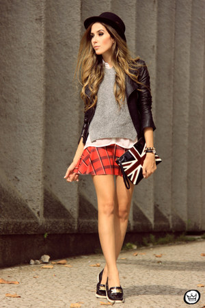 red Displicent skirt