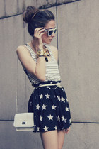 black romwe skirt - eggshell Choies sunglasses
