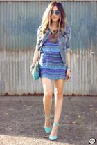 blue Lez a Lez dress - blue Gap jacket