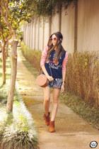 burnt orange Orna skirt - blue Sly Wear skirt - navy Sly Wear jumper