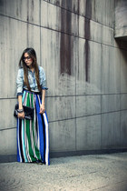 long skirt Lokanda skirt - jeans Marisa shirt - asoscom bag