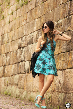 turquoise blue Displicent dress