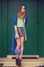 Aquamarine-awwdore-shirt-navy-labellamafia-bag-aquamarine-megagamie-shorts