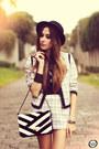 White-arezzo-bag-black-arezzo-flats-white-cor-de-rosa-suit