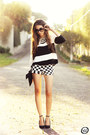 Romwe-shorts-black-sheinside-top