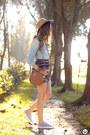 Silver-levis-shirt-light-orange-slywear-skirt