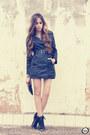 Leather-romwe-coat