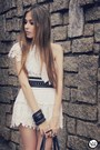 White-lokanda-dress-cream-chicwish-shorts