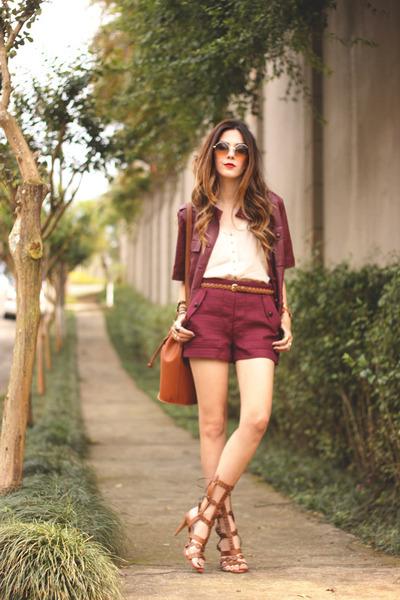 maroon Amaro jacket - maroon Amaro shorts