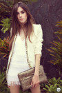 Ivory-sequins-labellamafia-dress-white-fringe-romwe-blazer