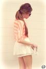 White-clothing-loves-skirt-orange-romwe-shirt-neutral-kaf-bracelet
