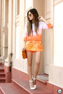 Orange-degrant-skirt
