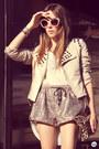 Ivory-choies-jacket-eggshell-romwe-shorts-beige-zerouv-sunglasses