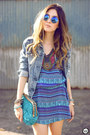Blue-lez-a-lez-dress-blue-gap-jacket