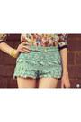 Aquamarine-chicwish-shorts-nude-floral-print-fashioncooltureshop-coat