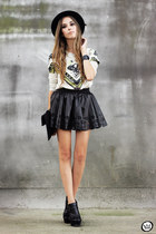 black GoodNight Macaroon skirt - black Kafé bracelet
