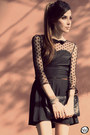 Black-sheinside-dress-black-asos-heels