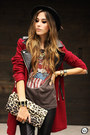 Brick-red-sheinside-coat-black-romwe-pants