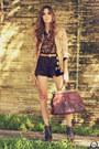 Tan-kodifik-coat-dark-brown-romwe-shirt-dark-brown-kodifik-shorts