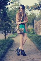 turquoise blue Espao 1098 dress - black asos heels