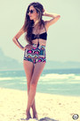 Black-ethnic-motel-rocks-shorts-black-blue-glue-swimwear