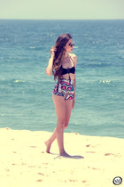 black Blue Glue swimwear - black ethnic Motel Rocks shorts