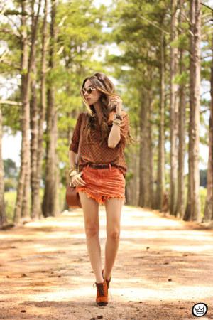 carrot orange Degrant skirt