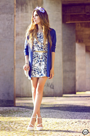 blue Chamelle dress