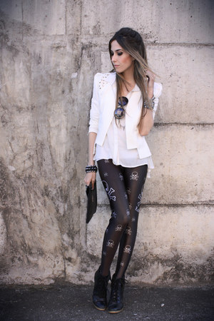 white romwe blazer - black Labellamafia leggings