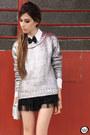 Silver-ville-rose-jumper-black-ville-rose-bracelet