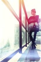 black asoscom boots - dark gray Chicwish dress