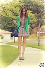 Lime-green-zara-blazer-heather-gray-bershka-skirt