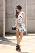 white Shoulder dress
