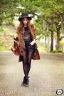 Tawny-romwe-coat-black-renner-hat-black-romwe-t-shirt