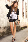 Black-leather-romwe-blazer-black-romwe-shorts