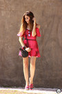 Hot-pink-displicent-dress