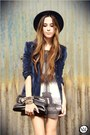 Navy-velvet-luigi-bertolli-blazer-heather-gray-chicwish-dress