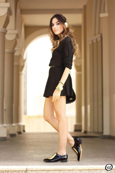 black Annaxi shoes - black Lez a Lez skirt - black Lez a Lez top