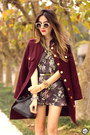 Brick-red-amaro-coat-puce-amaro-shorts-puce-amaro-top