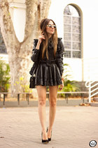black Amaro jacket - black GoodNight Macaroon shirt - black Amaro skirt