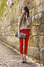 Nude-gap-jumper-red-les-eclaires-pants-black-dafiti-heels