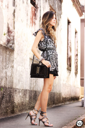 black Armazém dress - black Dafiti bag