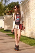 beige linen Brech da Neide blazer - beige jeans Espao 1098 shorts