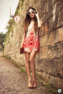Ruby-red-choies-dress-camel-zerouv-sunglasses-beige-kaf-bracelet
